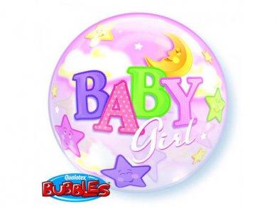 Baby girl Bubble Μπαλόνι (56εκ)