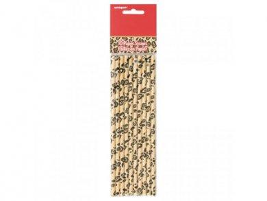 Animal Print Paper Straws (10pcs)