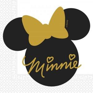 Gold Minnie Luncheon Napkins 20/pcs