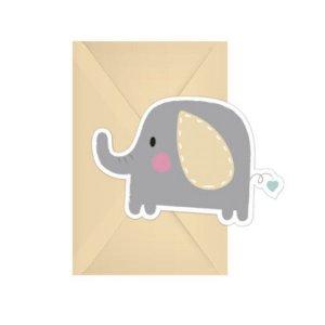 Baby Elephant Invitations (6pcs)