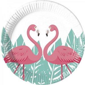 Pink Flamingo Small Paper Plates (8pcs)