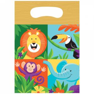 Ζούγκλα Σαφάρι Πλαστικές Σακούλες Για Δωράκια (8τμχ)