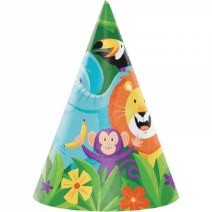 Jungle Safari Party Hats (8pcs)