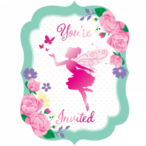 Fairy Sparkle Party Invitations 8/pcs