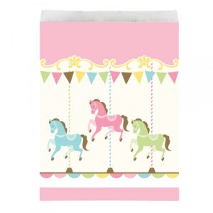 Carousel Paper Treat Bags 10/pcs