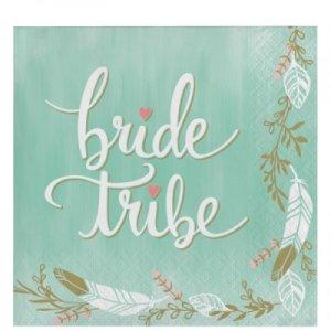 Bride Tribe beverage napkins 16/pcs