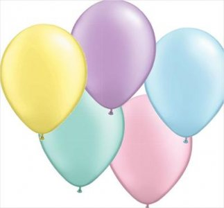 Pastel Assortment Latex Balloons (10pcs)