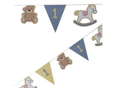 Κουνιστό Αλογάκι Γιρλάντα Πρώτα Γενέθλια για Αγόρι  3,5μ