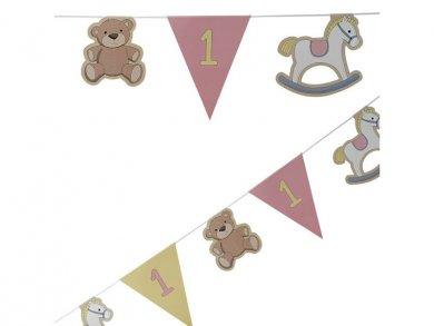 Rocking Horse First Birthday Garland for Girls