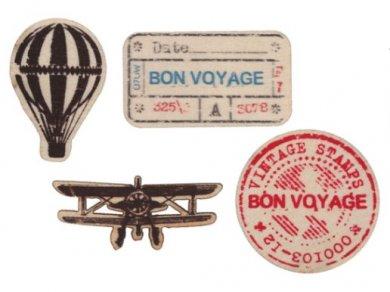 Vintage Airplane Wooden Confetti (20pcs)