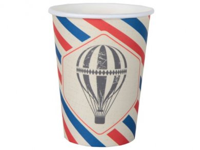 Vintage Airplane Paper Cups (10pcs)