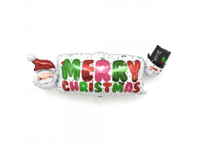 Άγιος Βασίλης και Χιονάνθρωπος Merry Christmas Supershape Μπαλόνι 104 x 40