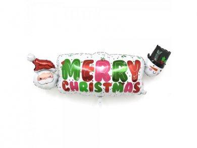 Santa and Snowman Merry Christmas Super shape Balloon 104 x 40