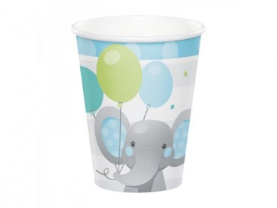 Boy Elephant Paper Cups (8pcs)