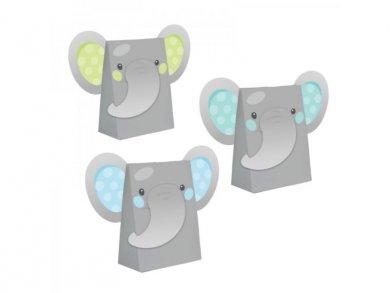 Boy Elephant Paper Treat Bags (8pcs)