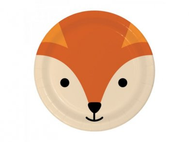Fox Small Paper Plates (8pcs)