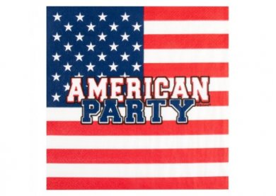 American Party Luncheon Napkins (12pcs)