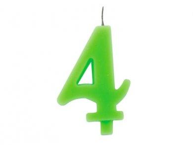 4 Αριθμός Τέσσερα Λαχανί Κερί για Τούρτα