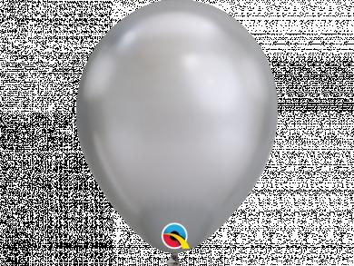 Silver Chrome Latex Balloons 6pcs