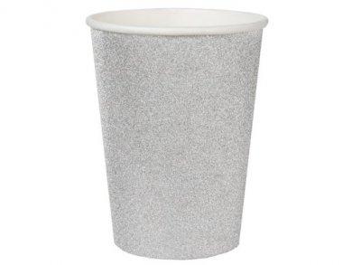 Silver Glitter Paper Cups (10pcs)