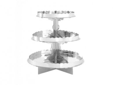 Silver 3Tier Cake Stand 29,2 x 29,8