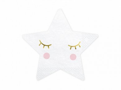 White Star Shaped Napkins (20pcs)