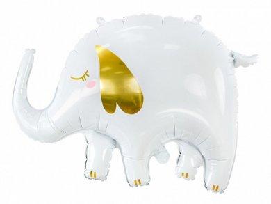 Άσπρο Ελεφαντάκι Supershape Μπαλόνι (61εκ x 46εκ)