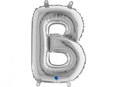 B Μπαλόνι Γράμμα Ασημί (35εκ)