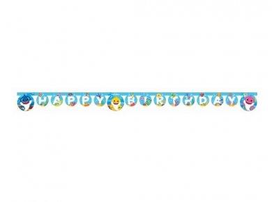 Baby Shark Happy Birthday Letter Garland (2m)