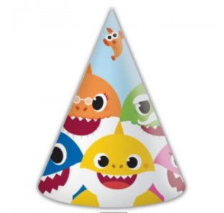 Baby Shark Καπελάκια για Πάρτυ (6τμχ)