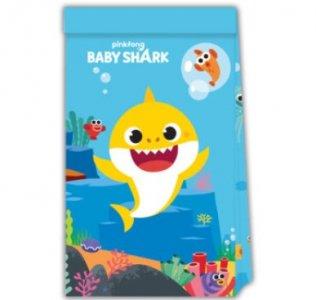 Baby Shark Χάρτινα Σακουλάκια (4τμχ)