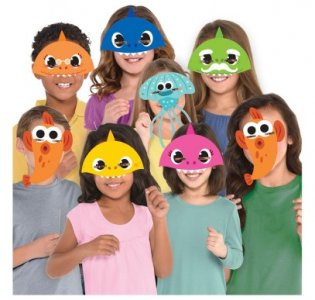 Baby Shark Paper Masks (8pcs)
