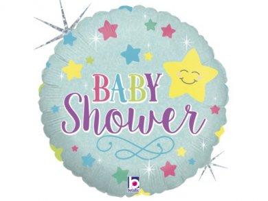 Baby Shower Αστεράκι Foil Μπαλόνι (46εκ)