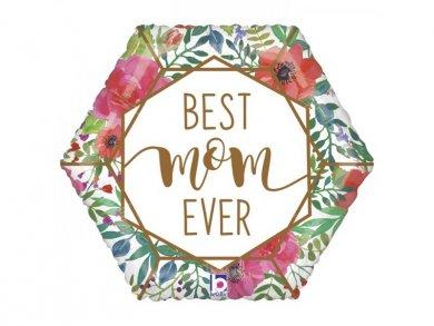 Best Mom Ever Λουλουδάτο Foil Μπαλόνι (46εκ)