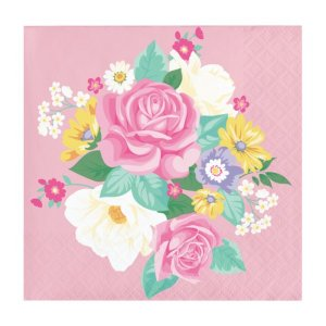 Beverage Napkins Floral Tea Party (16pcs)