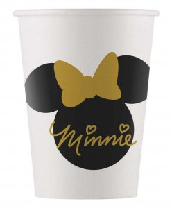 Black and Gold Minnie Mouse Paper Cups (8pcs)