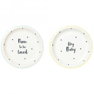 Born To Be Loved Small Paper Plates (12pcs)