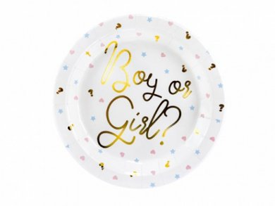 Boy or Girl Large Paper Plates (6pcs)