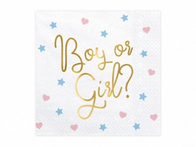 Boy or Girl Luncheon Napkins for Gender Reveal (20pcs)