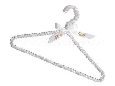 Bride Διακοσμητική Κρεμάστρα με Λευκές Πέρλες