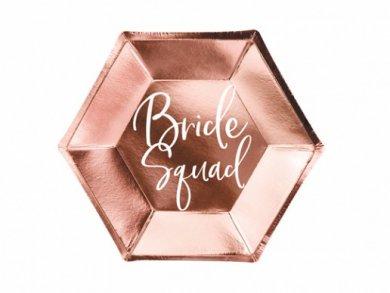 Bride Squad Rose Gold Paper Plates (6pcs)