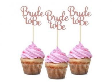 Bride to Be Rose Gold Decorative Picks (12pcs)