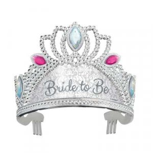 Silver Bride to Be Tiara with Stones