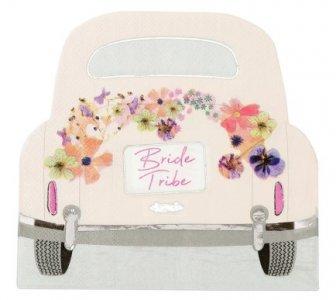 Bride Tribe Car Shaped Napkins (16pcs)