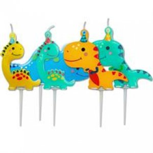 Happy Dinosaurs Cake Candles (5pcs)