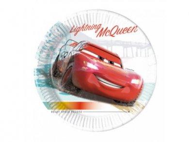 Cars Mc Queen Μικρά Compostable Χάρτινα Πιάτα 8τμχ
