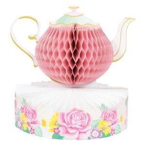 Floral Tea Party Centerpiece Table Decoration (24,3cm x 25,4cm)