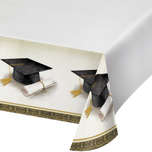 Classic Graduation Plastic Tablecover (137cm x 259cm)