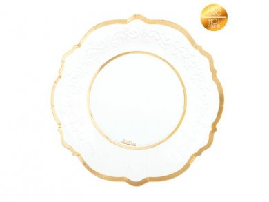 Classic Large Paper Plates with Gold Foiled Print 8/pcs