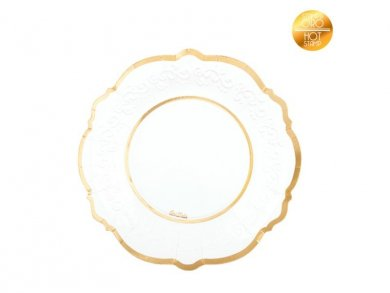 Classic Small Paper Plates with Gold Foiled Print 8/pcs